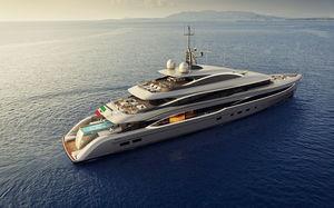 megayate de crucero / raised pilothouse / de acero / aluminio