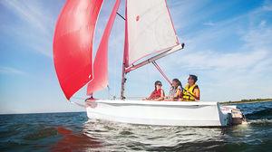 barco de vela ligera doble / de recreo / spinnaker asimétrico / Láser