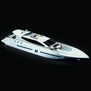 superyate de crucero / de deporte / con caseta de timón / de aluminio
