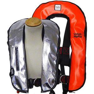 chaleco salvavidas inflable automático / 170 N / con arnés de seguridad / ignifugado