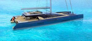 superyate de vela de lujo catamarán