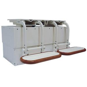 pie para asiento piloto para barco / ajustable / eléctrico / de aluminio