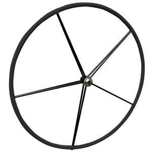 rueda de timón para velero / forro de cuero
