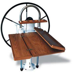 mesa de cockpit plegable / de teca / de material compuesto