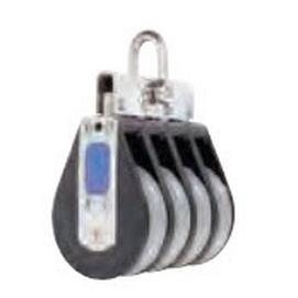 polea con cojinetes lisos / cuádruple / con cabecera fija / diámetro máx. del cabo: 14 mm