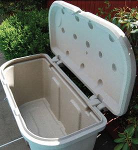 caja de almacenamiento para pantalán / de polietileno