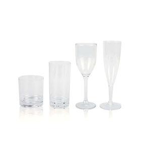 vaso de policarbonato / de cristal / para vino