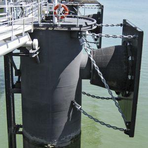 defensa para puerto / marina / de muelle / cónica