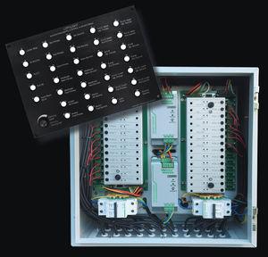 panel de mando y control para barco / para buque / con alarma