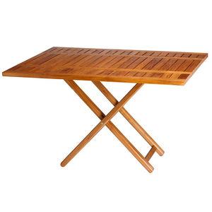 mesa para barco / ajustable / de teca