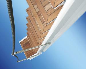 escalera para yate / lateral / de embarque / manual