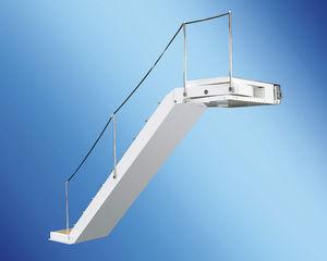 escalera para barco / lateral / de embarque / de teca