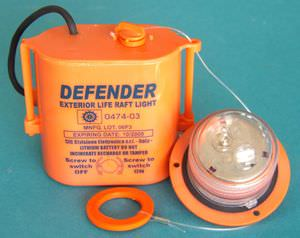 luces de señalización para buques / para balsas salvavidas / de incandescencia / blancas