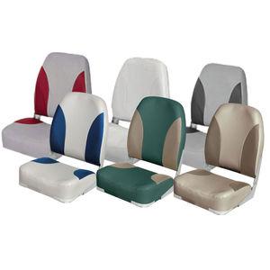 asiento piloto / para barco / respaldo abatible / 1 plaza