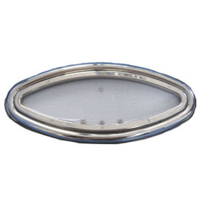 portillo ovalado / para barco / abrible / con bordes redondeados