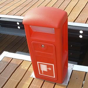 torreta de incendio / con iluminación integrada / para pantalán