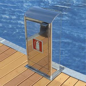 torreta de incendio / de suministro de agua / para pantalán / de acero inoxidable