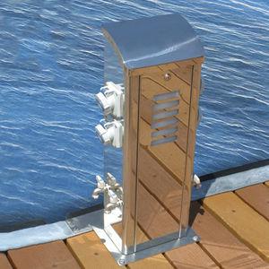 torreta de iluminación / de suministro eléctrico / de suministro de agua / para pantalán
