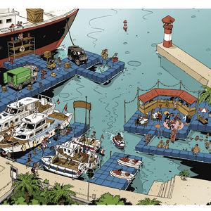 pantalán modular / de amarra / para moto de agua / para puerto deportivo