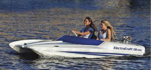 barco open catamarán