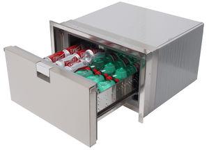 refrigerador para barco / para yate / colocación libre / de acero inoxidable