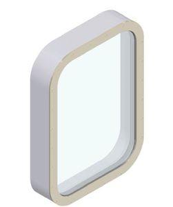 ventana para buque / fija / rectangular