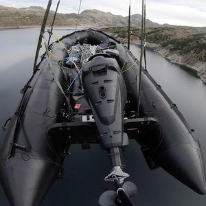 barco profesional barco militar / fueraborda / transportable / embarcación neumática plegable