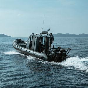 barco profesional barco de vigilancia / fueraborda / embarcación neumática semirrígida