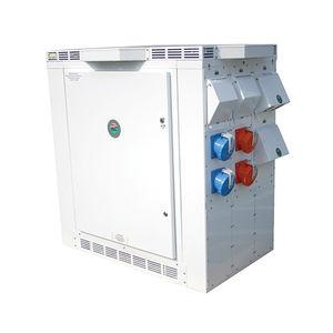 torreta de suministro eléctrico / para pantalán / de acero inoxidable / compacta