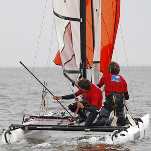 catamarán deportivo de regata / doble / para niños / trapecio simple