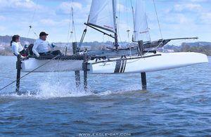 catamarán deportivo con foil / para raid costero / doble / doble trapecio