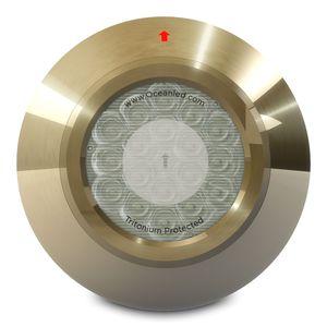 iluminación subacuática para yate / bombilla de halogenuro metálico / pasacascos / para casco de aluminio
