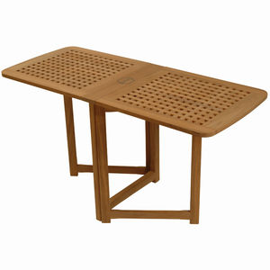 mesa auxiliar para barco / plegable / de teca