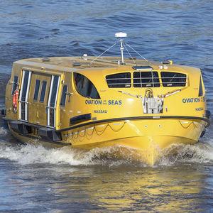 bote salvavidas parcialmente cerrado / para buque