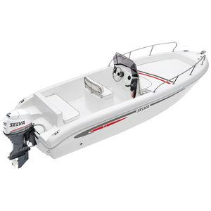 barco open fueraborda / con consola central / de fibra de vidrio / 6 personas máx.