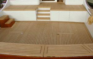 panel para revestimiento de cubierta / de teca