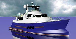 yate a motor de gran velocidad / trawler / con fly / de aluminio