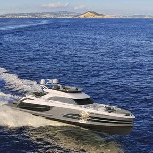 yate a motor de crucero / con fly / POD IPS / de aluminio