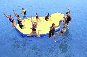 juego acuático isla