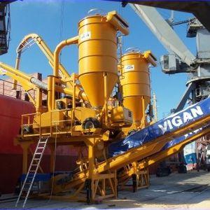 descargador de buque neumático / continuo / móvil