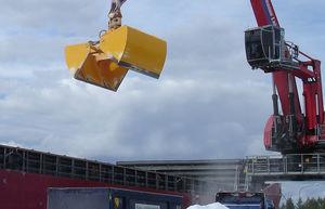cuchara de descarga para buque granelero / hidráulica
