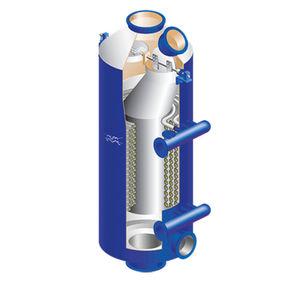 calentador vertical / de fluidos / para buque