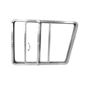 ventana para buque / deslizante / trapezoidal / de vidrio