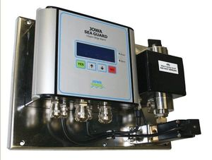 detector de presencia de aceite en el agua / para buque / de achique / con alarma
