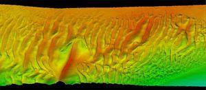 ecosonda para estudio hidrográfico / multihaz