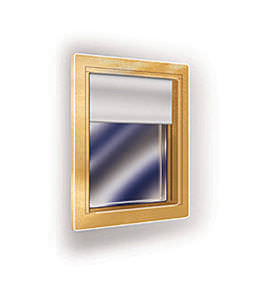 ventana para buque / cortafuegos / rectangular / de vidrio