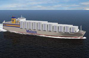 buque de carga portacontenedores / con alimentación GNL