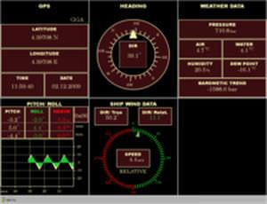 software de navegación / de vigilancia / para buque