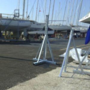 pies de puesta en dique para veleros