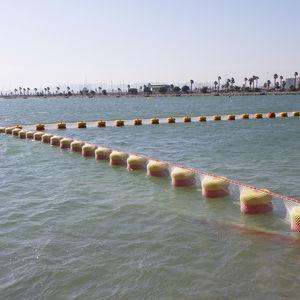 barrera antimedusas / flotante / permanente / para río